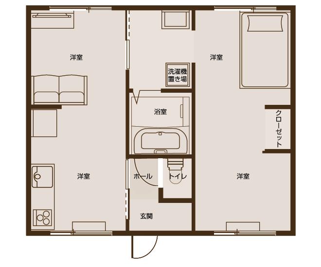 アパートメント水仙 2LDKタイプ