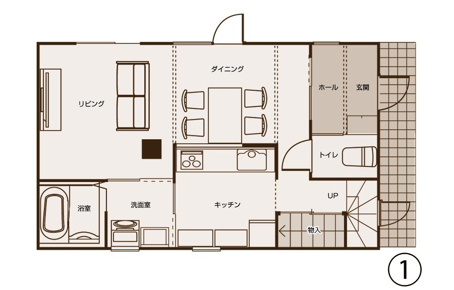 図面1階(工事後)