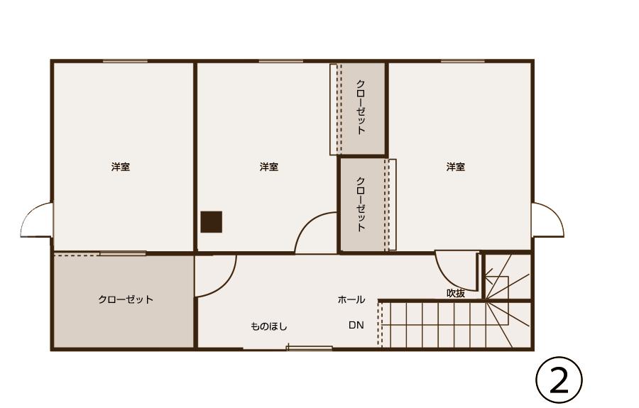 図面2階(工事後)