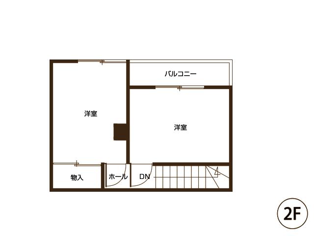 図面2階(工事前)